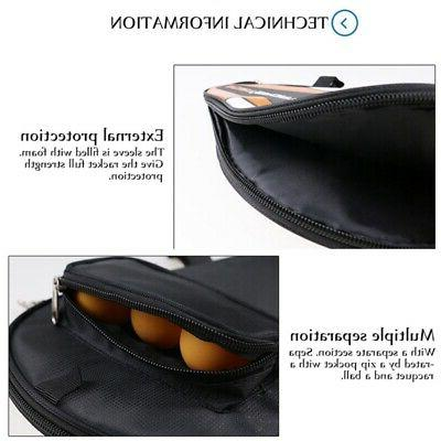 Only - Table Tennis Paddle Pouch with Ball