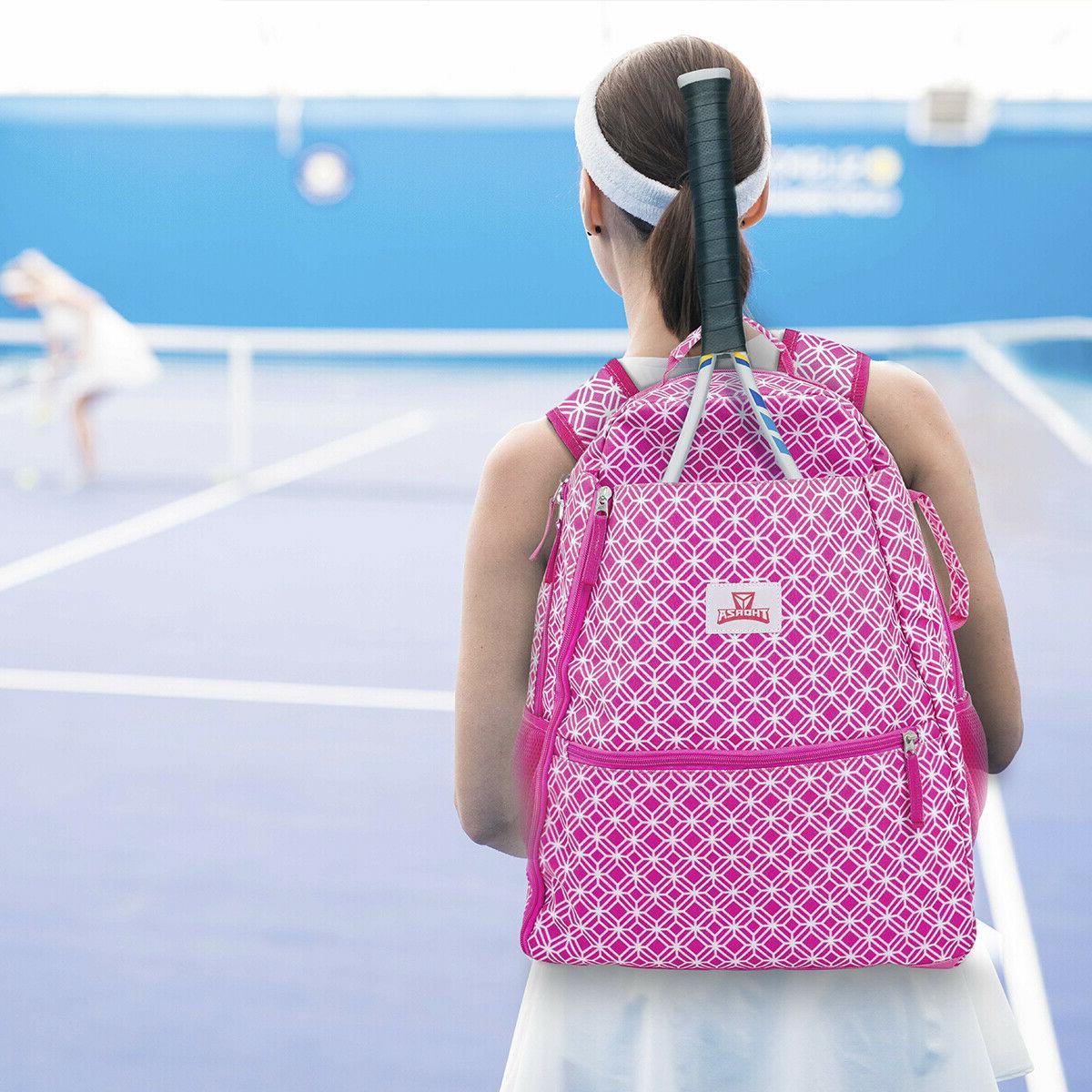 Tennis Racket Backpack for Women Balls,
