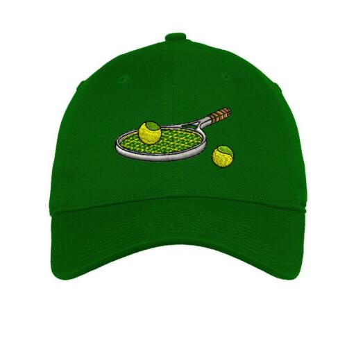 Tennis Racket Embroidered Low Hat