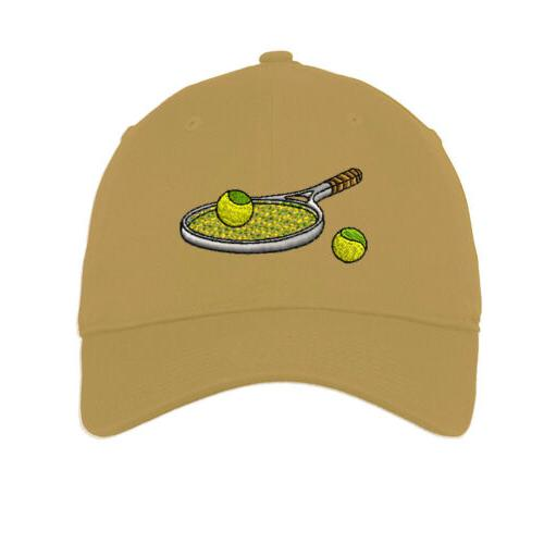 Tennis Racket Embroidered Low Profile