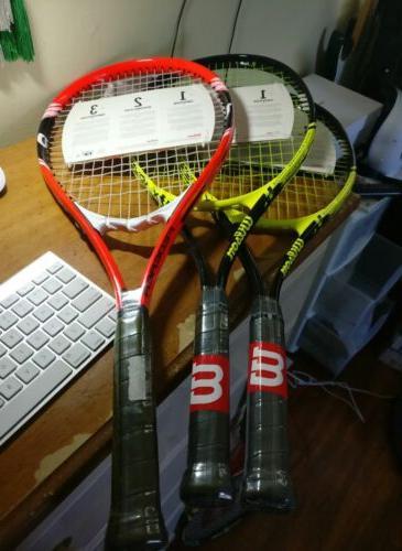 tennis racket lot of 6 federer energy