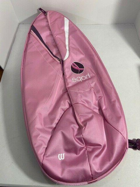 tennis racket shoulder bag breast cancer awareness