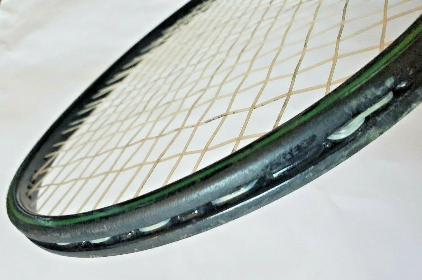 Vtg Prince Graphite Oversize Black & Green Tennis Racquet Grip 4