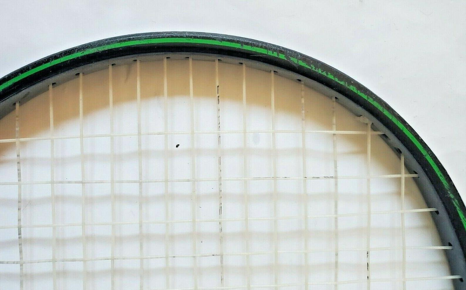 "Vtg Prince Graphite Oversize Black & Racquet Grip 4 3/8"""
