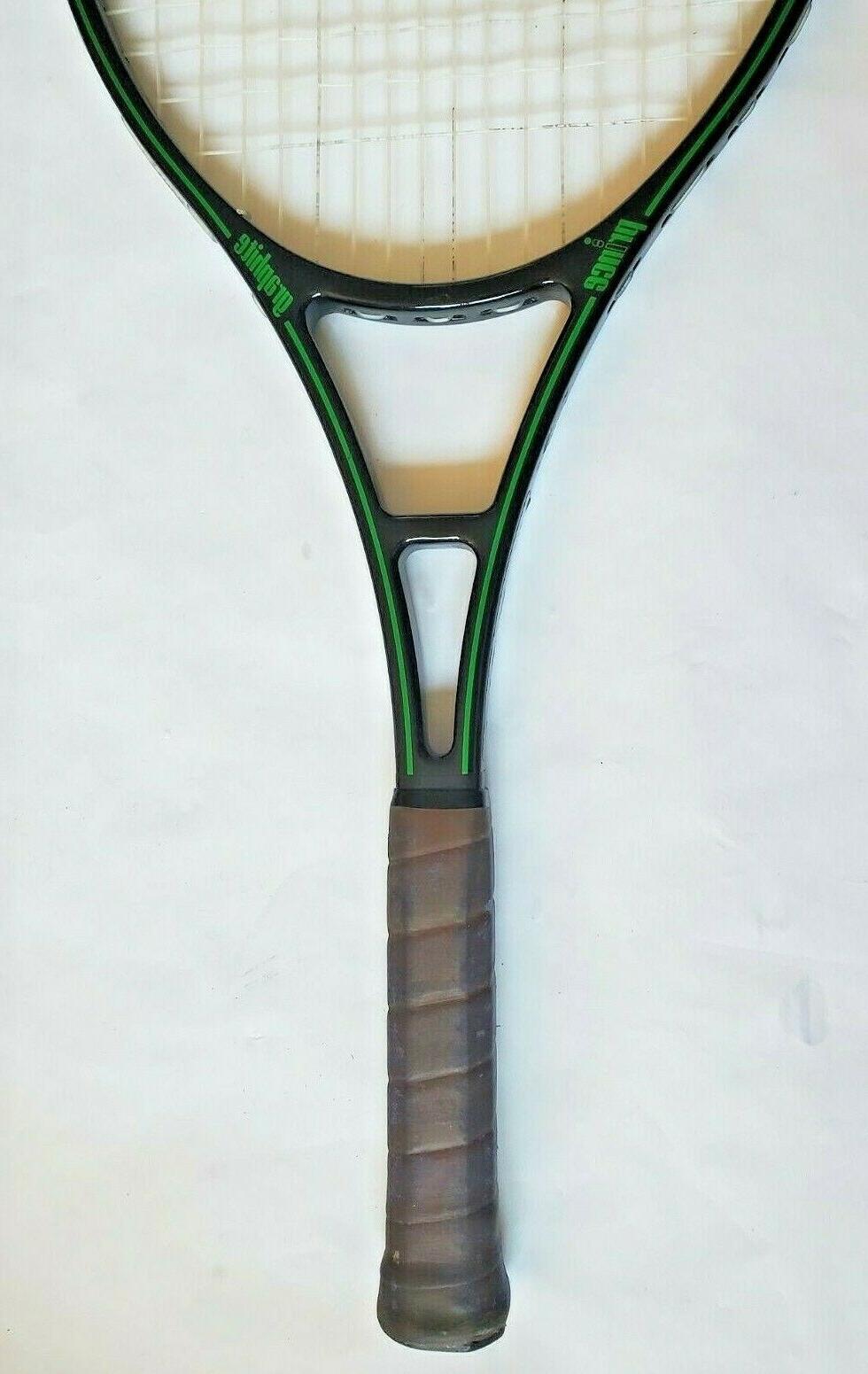 Vtg Graphite Black & Racquet Grip