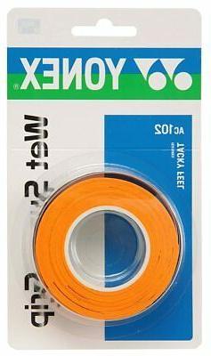 YONEX wet super grip tape AC102 Orange Tennis Badminton rack
