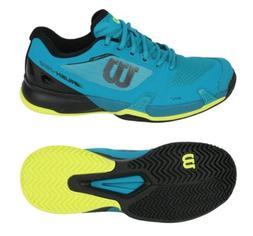 Wilson Men Rush Pro 2.5 Tennis Shoes Running Blue Racket Sne