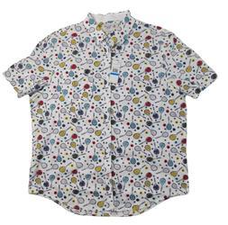 Original Penguin Mens XL Button Down Shirt White Tennis Rack