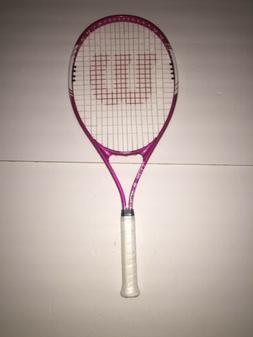 New WILSON Adult Tennis Racket TRIUMPH Oversized Head Pink 1