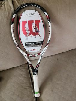 New Wilson BLX 5 FIVE 103 9.3oz 4 3/8 grip Tennis Racquet