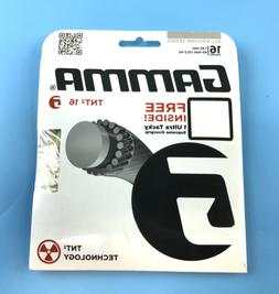 New! Gamma TNT2 16 Rauge Tennis Racket Stringc with Free Ove