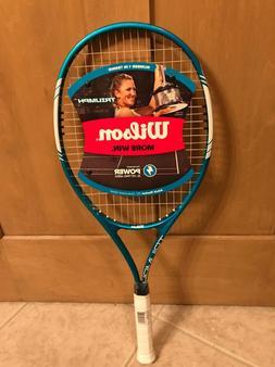 "New Wilson Triumph Adult Tennis Racket Oversize Head 112"""