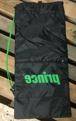 PRINCE Padded Tennis Racket Drawstring Bag Cover - Black & G