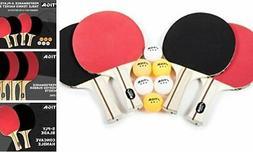 STIGA Performance 4-Player Table Tennis Racket Set with 4-Pl