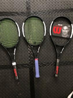 Wilson Pro Staff Rf 97 Autograph Tennis Racquet - Black/Whit