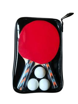 RACK Pro Table Tennis Racket/Ping Pong Paddle Set w/ 3pc Bal