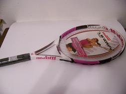 Wilson Profile Boost 110 Tennis Racquet Pink and White Adult