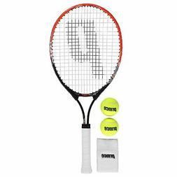 Prince React Tennis Set Youngster Childrens Racket Zip Patte