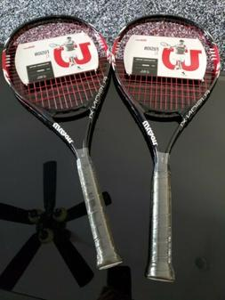 "SET OF 2- Wilson Fusion Xl Tennis Racket 112"" Square 4 3/8"""
