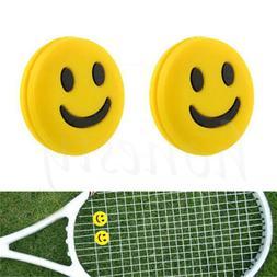 4pcs Silicone Rubber Smile Face Tennis Racquet Vibration Dam