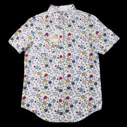 Original Penguin Small Mens Button Down Shirt White Tennis R