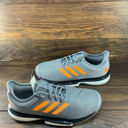 Adidas Sole Court Boost Men's Tennis Shoes Gray Racket Racke