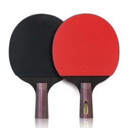 Table Tennis Bat Racket Long Short Handle Ping Pong Paddle S