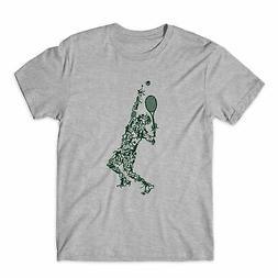 Tennis Ball Player Sports Game Tennis Racket T-Shirt Youth U