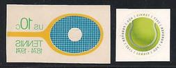 TENNIS RACKET AND BALL - SET OF 2 U.S. POSTAGE STAMPS - MINT