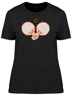 Two Rackets For Table Tennis Women's Tee -Image by Shutterst