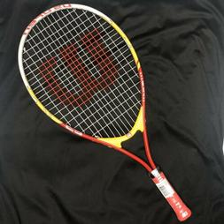 Wilson US Open Junior Tennis Racquet, 23 Inch Red And Yellow