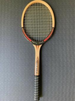 """Vintage Dunlop Maxply McEnroe Wood Tennis Racquet 4 5/8"""" Gri"""